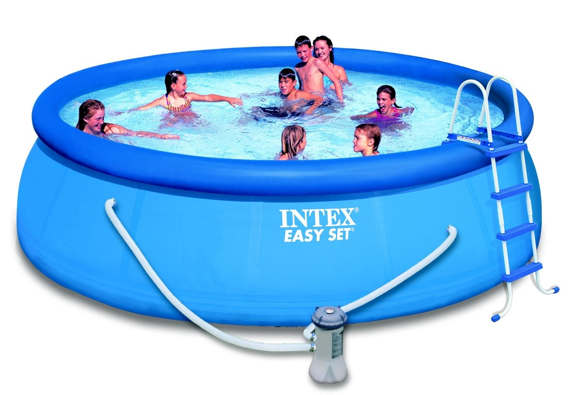 Intex kit piscine quot easy set quot 3 66m x h91 cm for Piscine 2m44
