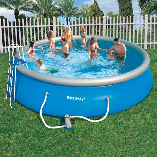 piscine ronde fast set pool bestway piscine autoportante