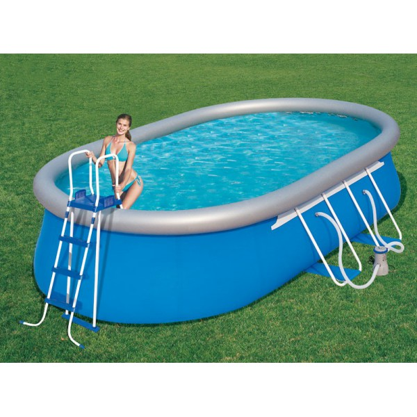 Piscine ovale fast set m tallis e bestway piscine for Piscine jilong ovale