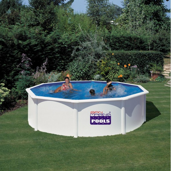 Piscine fidji ronde san marina piscine acier for Piscine gonflable 2m diametre