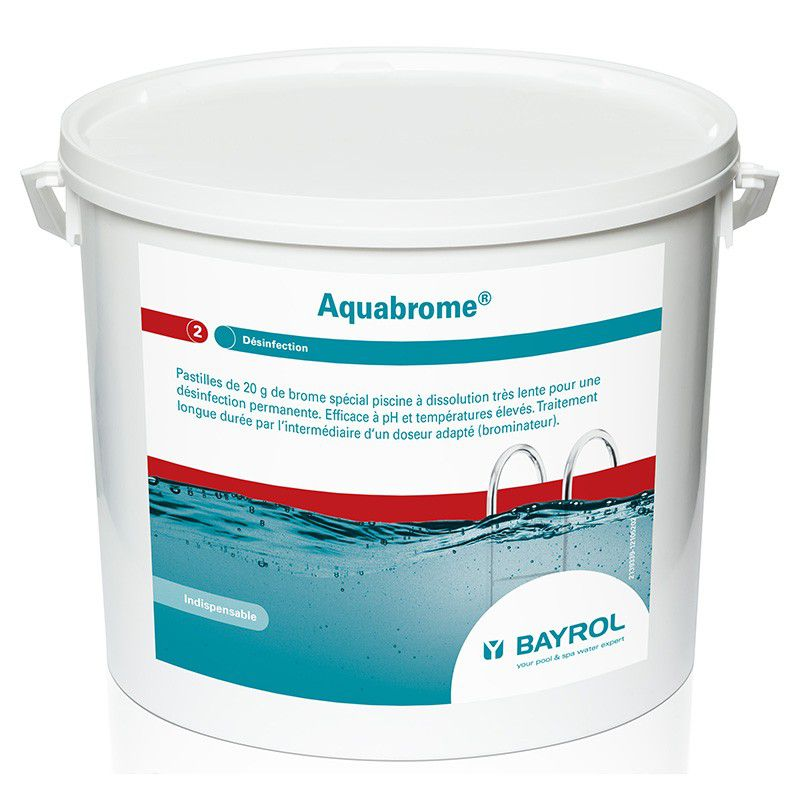 Brome lent aquabrome bayrol 5kg pour piscine ou spa for Brome pour piscine