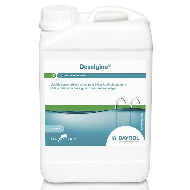 Desalgine 3l anti algues bayrol algicide piscine shop for Algues piscine ph