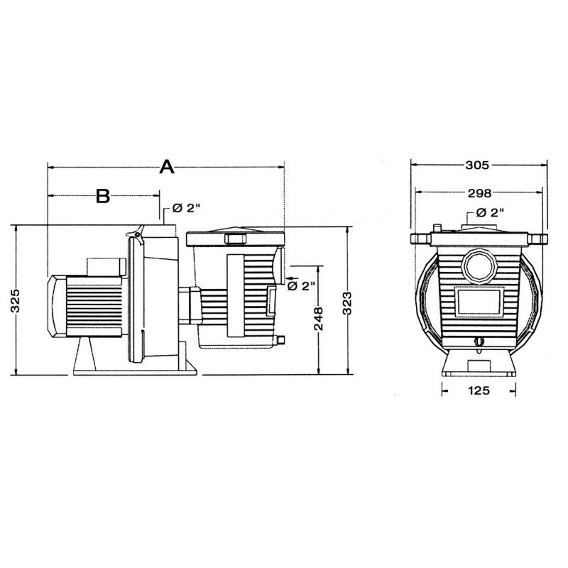POMPE 1CV MONO ULTRA FLOW PENTAIR P-UFL-101