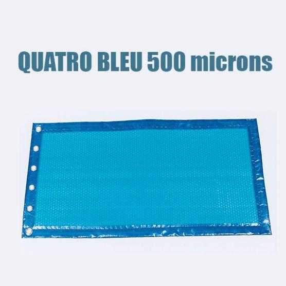 B che bulles piscine bleu 500 microns bord e 4 cot s - Bache a bulle piscine 10x5 ...