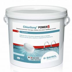 Chlore lent Chlorilong Power 5 bayrol (5kg)
