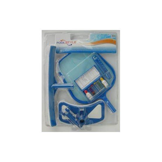 Kit d 39 entretien piscine pool style accessoires piscine for Entretien piscine