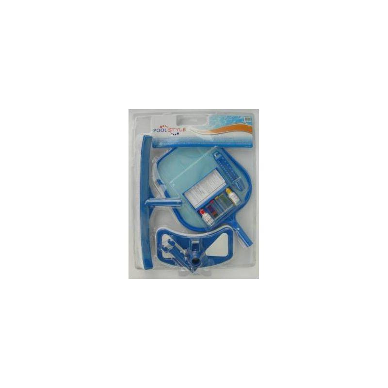 Kit d 39 entretien piscine pool style accessoires piscine for Kit entretien piscine