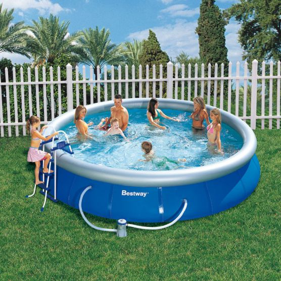 Piscine ronde fast set pool bestway piscine autoportante for Pieces detachees piscine hors sol bestway