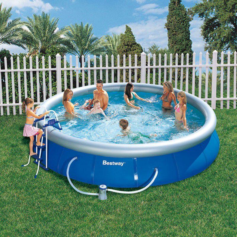 piscine ronde fast set pool bestway piscine autoportante piscine shop. Black Bedroom Furniture Sets. Home Design Ideas