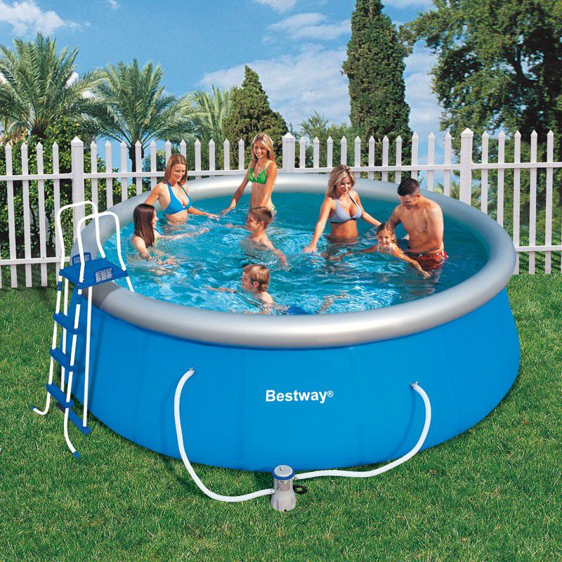 Piscine ronde fast set pool bestway piscine autoportante for Piscine hors sol bestway