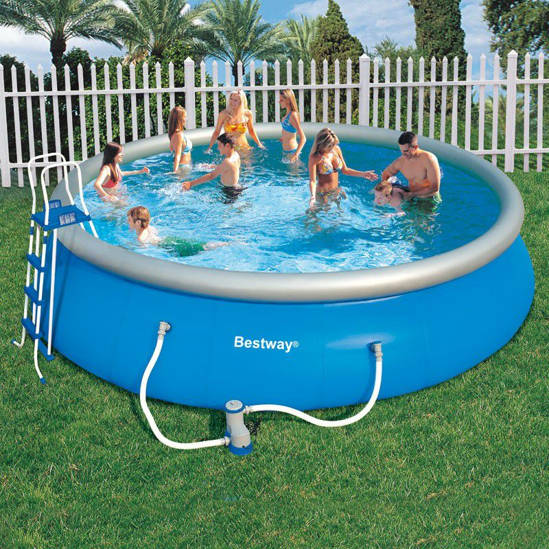 Piscine ronde fast set pool bestway piscine autoportante for Piscine ronde