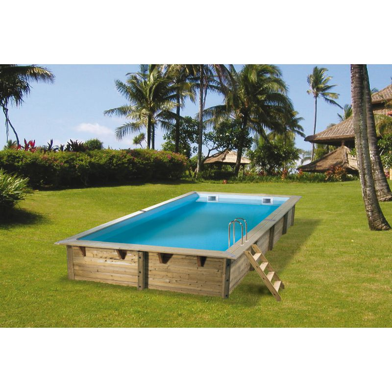 Piscine bois rectangulaire azura nortland ubbink piscine for Ubbink piscine bois