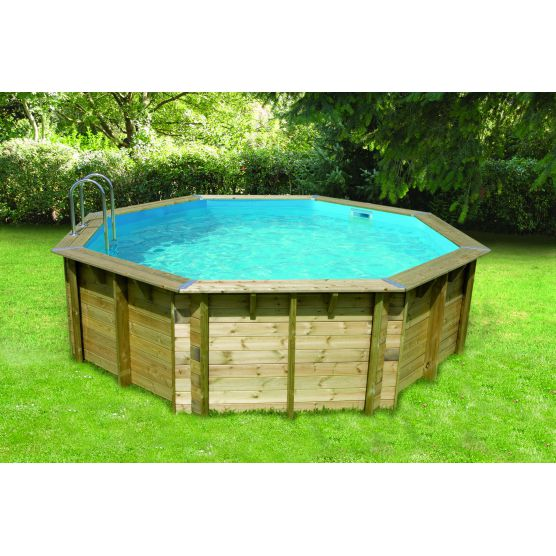 Ubbink piscine bois ocea octogonale piscine shop for Bache piscine hors sol octogonale