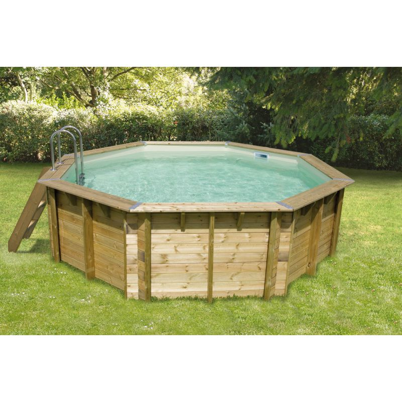 Ubbink piscine bois ocea octogonale piscine shop for Piscine bois octogonale
