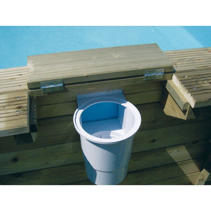 Ubbink piscine bois ocea octogonale piscine shop for Piscine skimmer