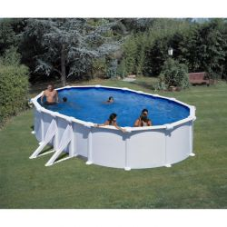 Piscine acier piscine hors sol m tal et r sine piscine for Piscine autoportee pas cher