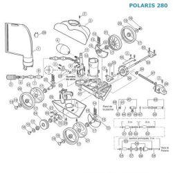 Axe mobile de roue dentelée Polaris 280