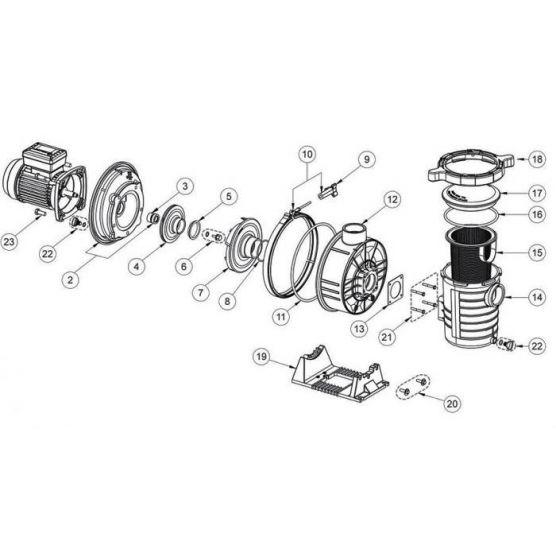 diffuseur pour pompe ultraflow 2 cv et 3 cv