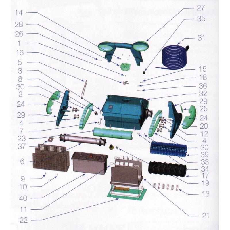 Porte filtre complet robot zodiac indigo piscine shop - Robot piscine zodiac indigo ...