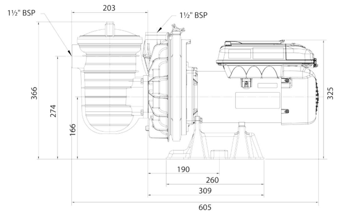 Dimensions de la S5P2R VS