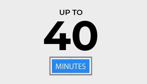 40 minutes d'autonomie de l'aspirateur