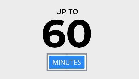 60 minutes d'autonomie