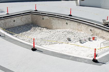 piscine en construction