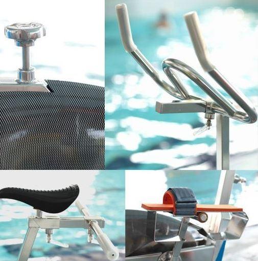 Les parties d'un vélo d'aquabike